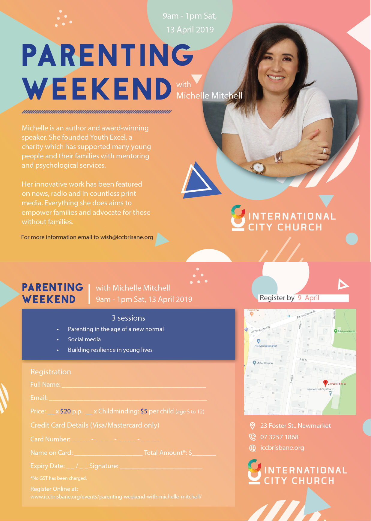 Parenting Weekend with Michelle Mitchell – ICC Brisbane