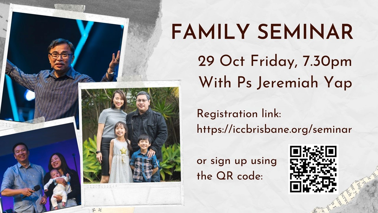 Family Seminar with Ps Jeremiah Yap
